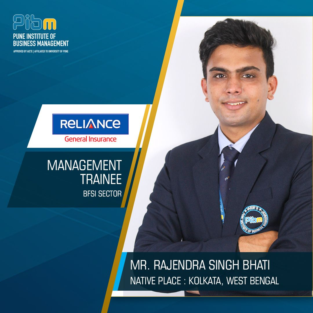 Pibm Congratulates Mr Rajendra Singh Bhati For Getting Placed At