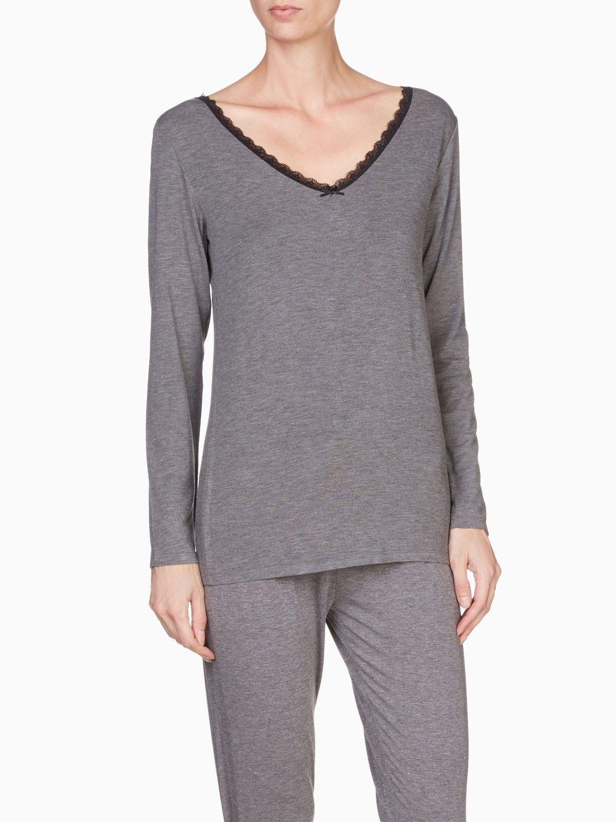 87f120b7d389b T-shirt Coco col en V Gris – T-shirt pour femme – LH by La Halle ...