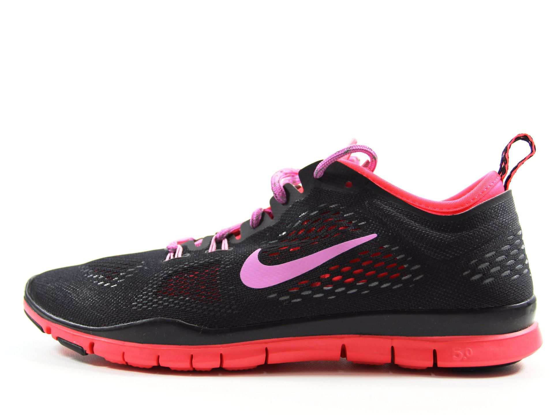 low priced 280ec df4d4 NIKE Free 5.0 TR Fit 4 (Black Hyper-Punch) Womens Size 8.5