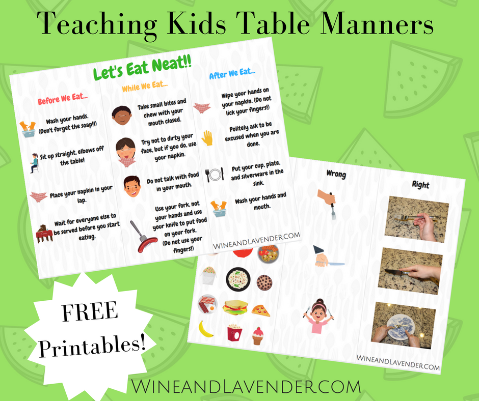 Etiquette: Teaching Kids Table Manners