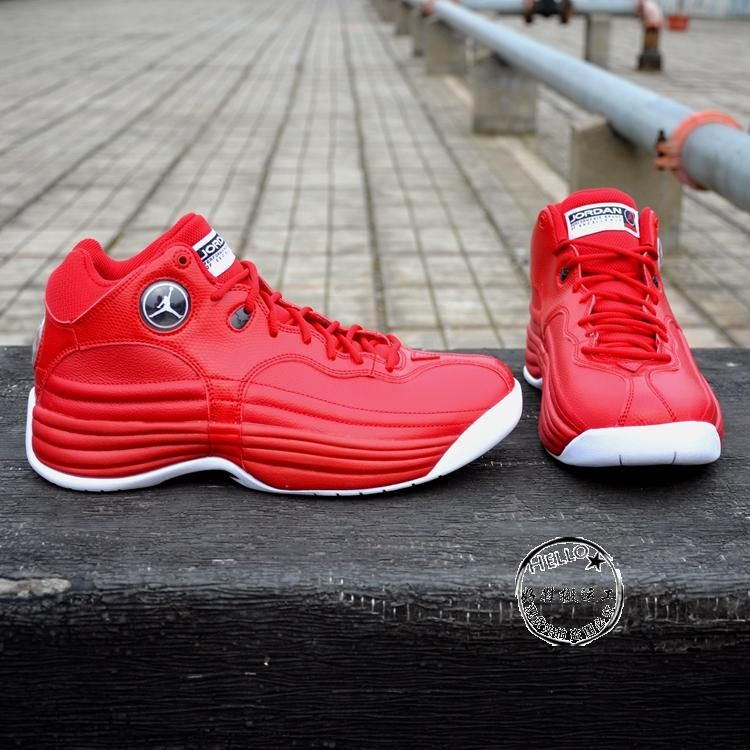 b9b27a7a4df NIKE AIR JORDAN JUMPMAN TEAM 1 GYM RED WHITE BLACK 644938 601  159 ...