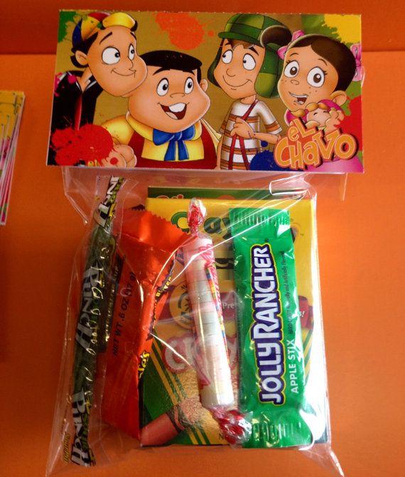 First Birthday Boy Party Loot Bag Single: Pin By Glenda Godinez On Fiesta De Chavo Del Ocho!