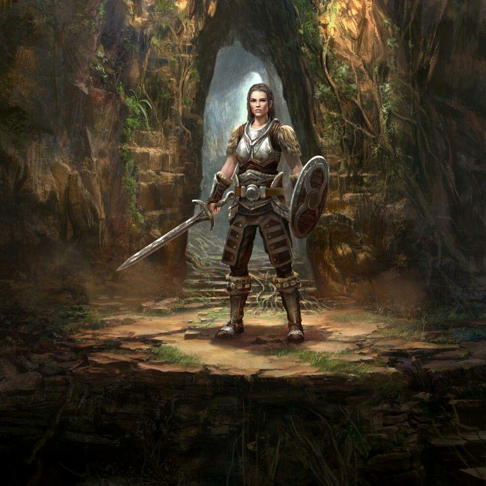 f Ranger Med Armor Shield Sword Jungle dungeon Lydia