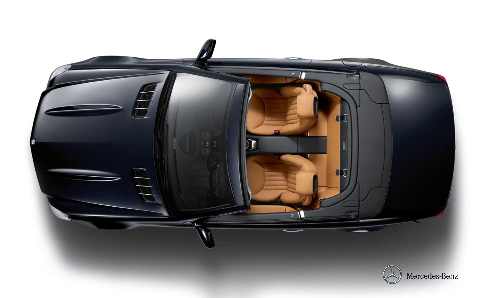 Sl 500 Exterior Topview Car Top View Black Mercedes Benz Mercedes Benz