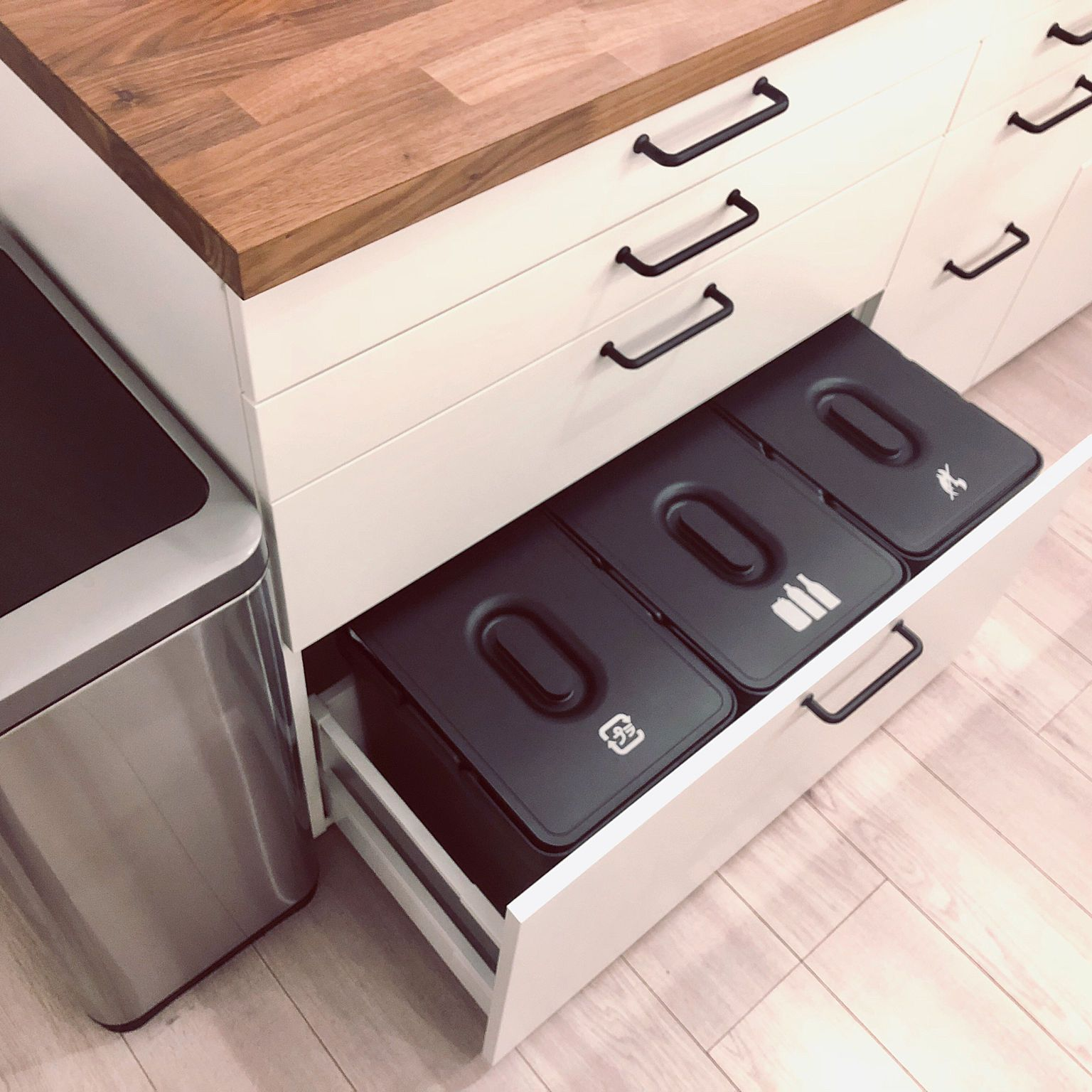 コストコ ゴミステーション キッチン ゴミ箱隠し ゴミ箱 分別 などの