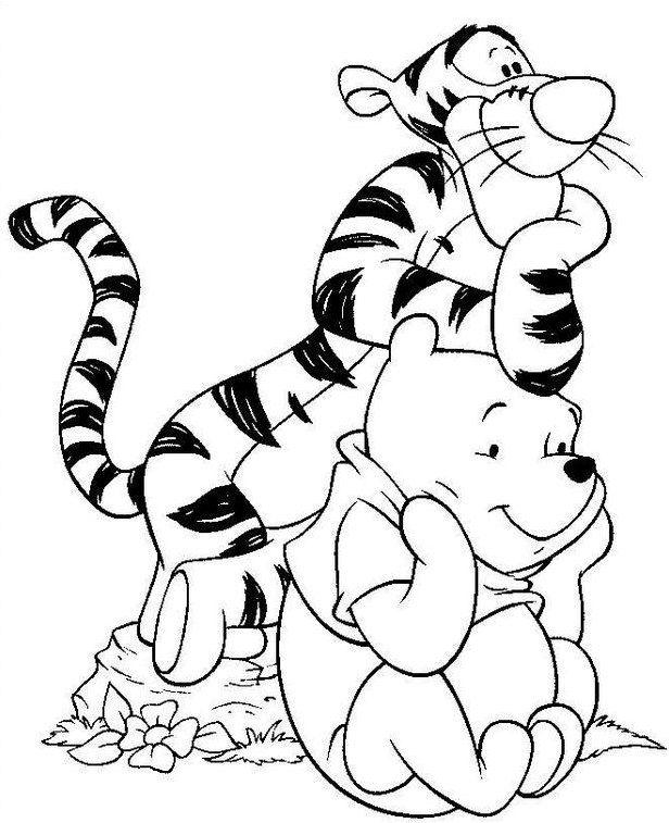 Mewarnai Gambar Kartun Winnie The Pooh Paginas Para Colorir Da