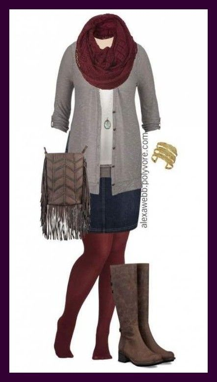 Ideas Boots With Dress Plus Size Fall Outfits For Dress ~  ideen stiefel mit kle...