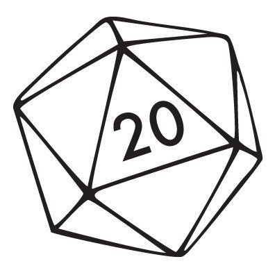 Products Dice Tattoo Dungeons And Dragons 20 Sided Dice