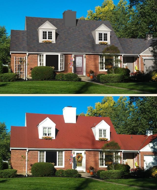 Best Houses With Red Shingles Before After Home Makeover 400 x 300