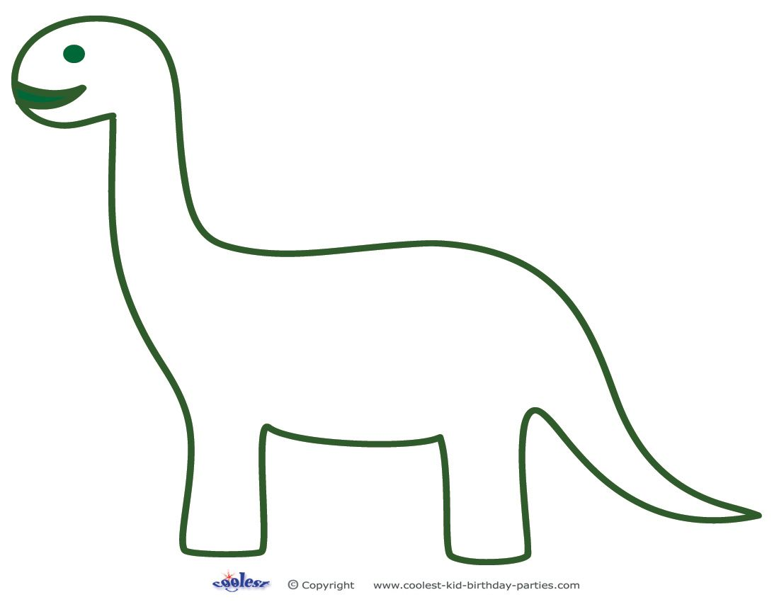 image relating to Dinosaur Outline Printable known as Printable Brontosaurus Decoration - Coolest Absolutely free Printables