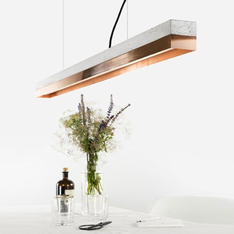 C1 Strip Pendant Light Grey | Concrete pendant light