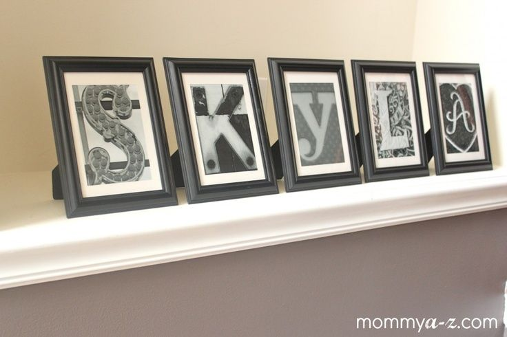 diy name wall art | diy custom name art, free letter wall frames ...