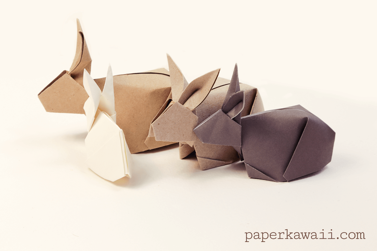 origami bunny rabbit tutorial papier falten osterhase und origami. Black Bedroom Furniture Sets. Home Design Ideas
