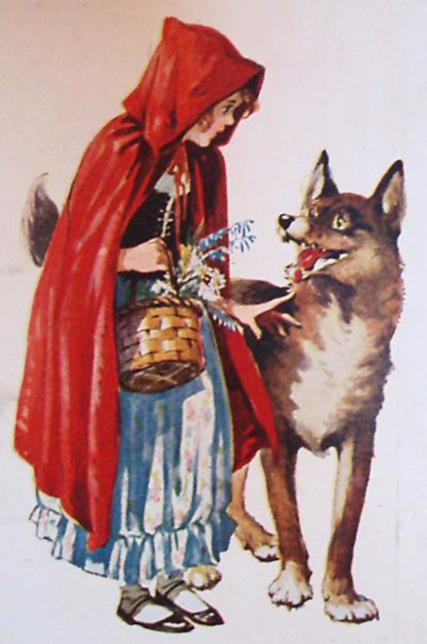 Little Red Riding Hood Meets The Wolf