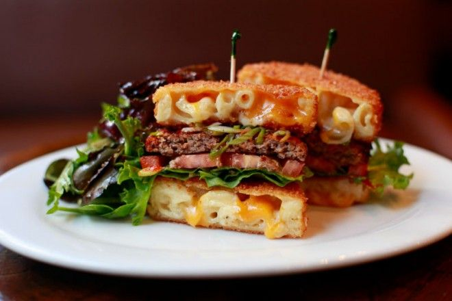 mac and cheese attack burger