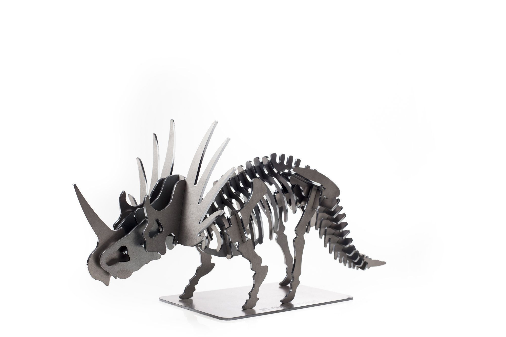 edward cardboard rhinoceros figure 3d puzzle diy kit paper