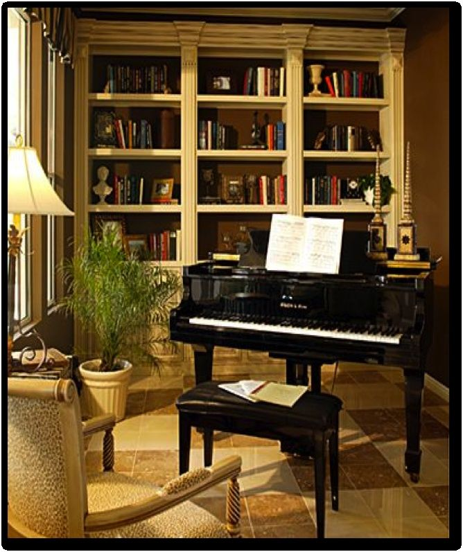 Image result for how to decorate a small living room with for Piano room decor