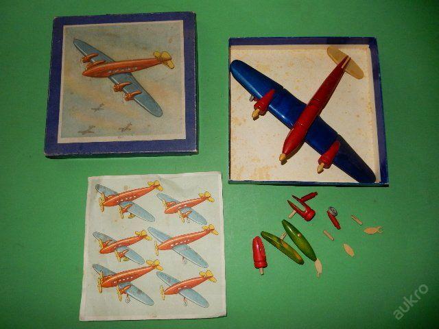 Letadlo - velmi stará skládačka - včetně krabice (6151933772) - Aukro - největší obchodní portál