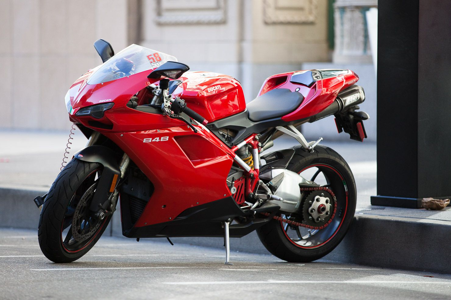 Ducati 848 With Italian Flag and 58 Sic Decals