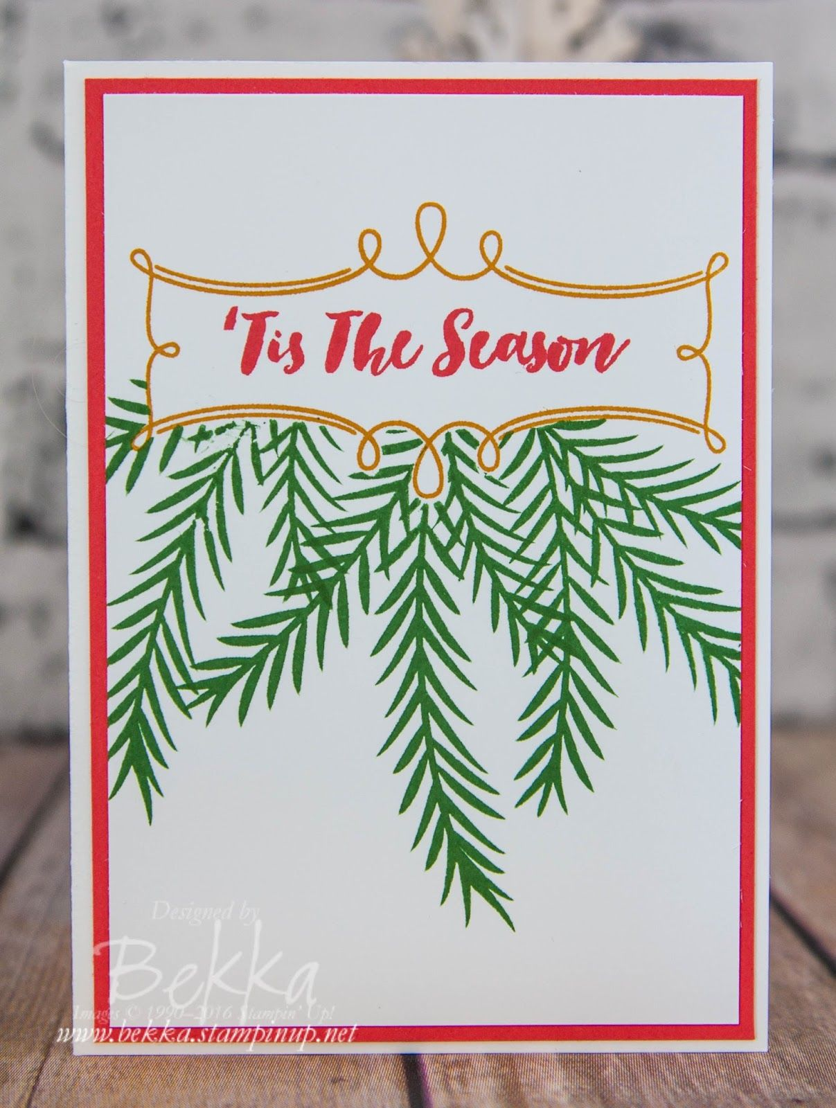 Fast and Fabulous Christmas Card Made Using the Christmas Pines ...