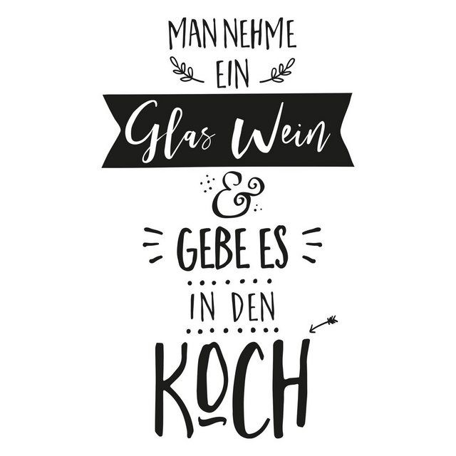 Photo of Wandtattoo »Man nehme ein Glas Wein«