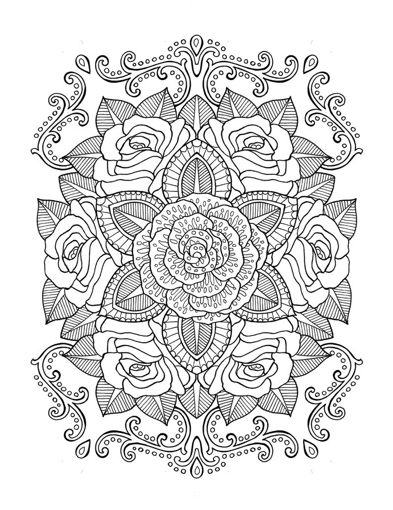 2106 coloring book agenda - ink on paper | flores | Pinterest ...