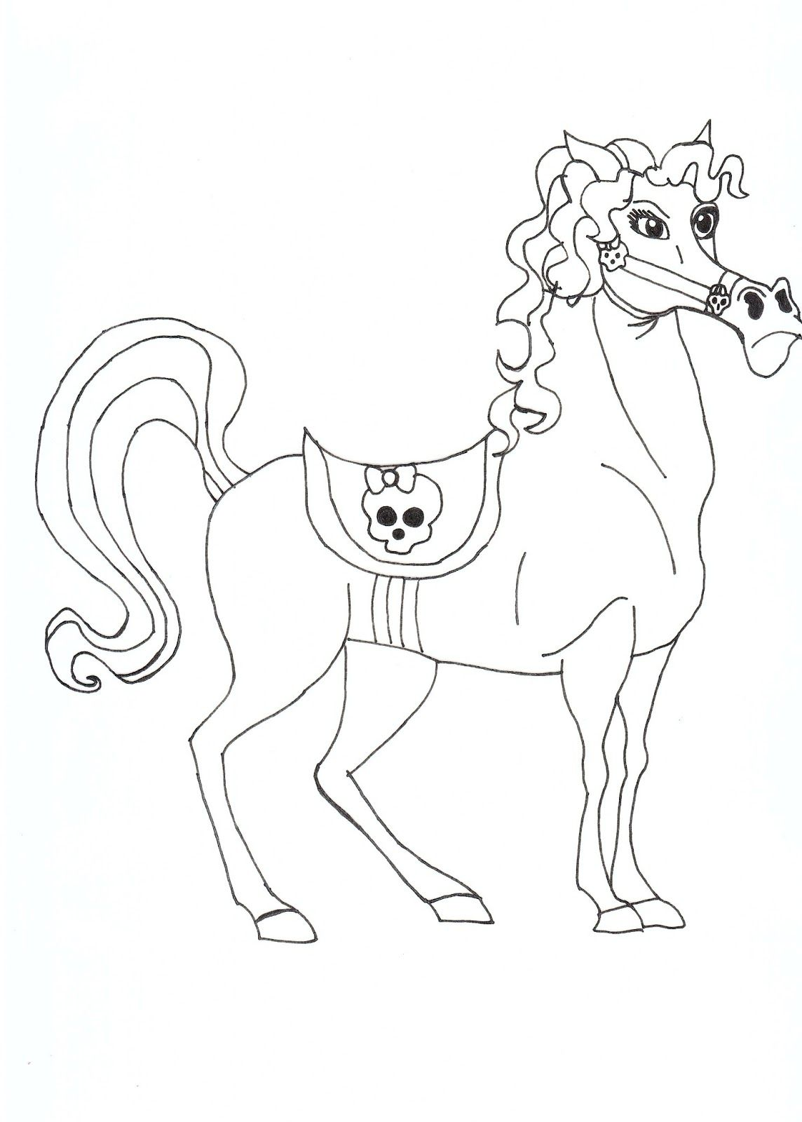 Nightmare, Headless Headmisstress Bloodgood\'s Pet Horse Coloring ...