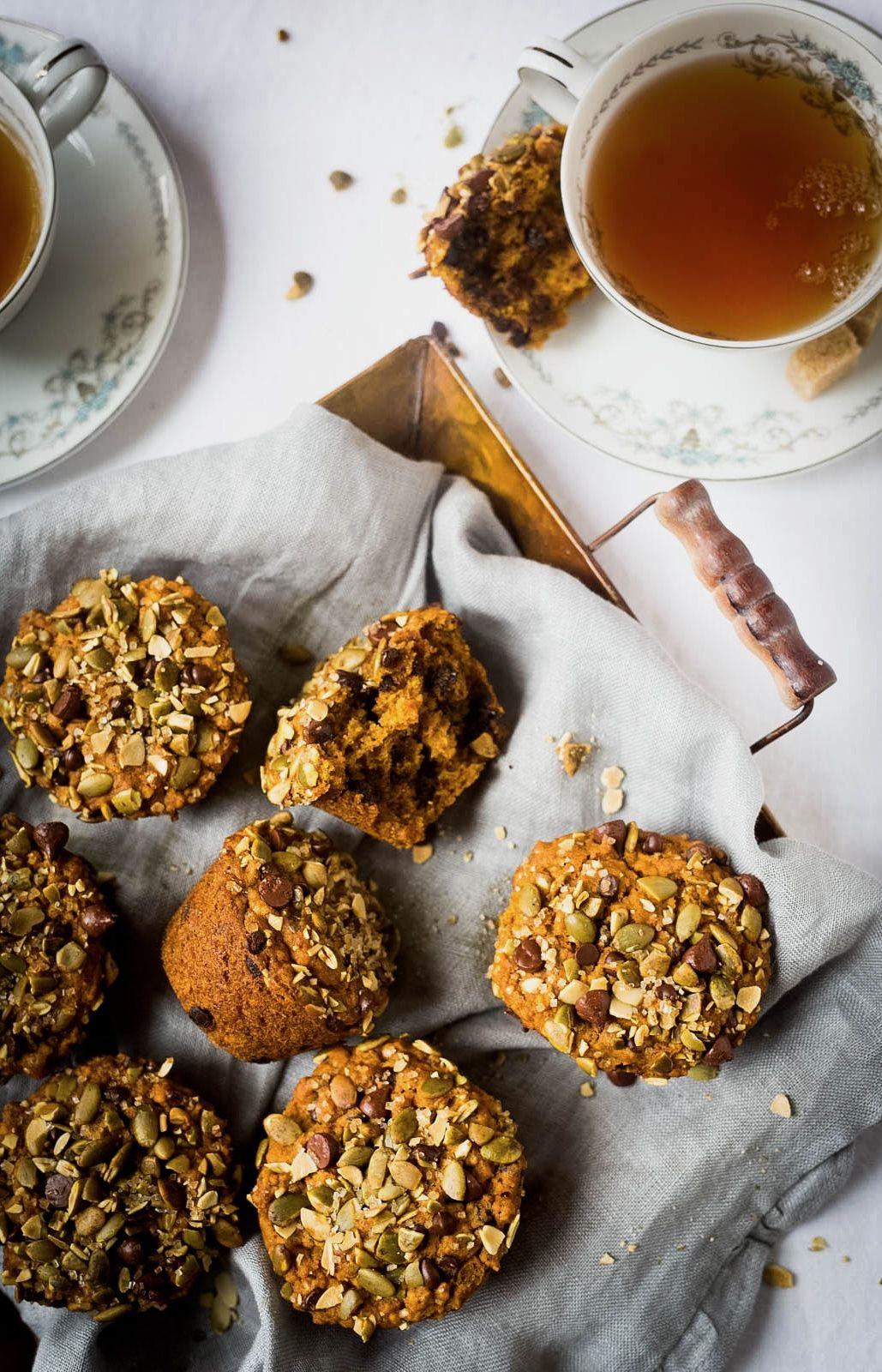 Muffins à la citrouille et au chocolat | Muffins à la citrouille, Citrouille, Citrouille recette