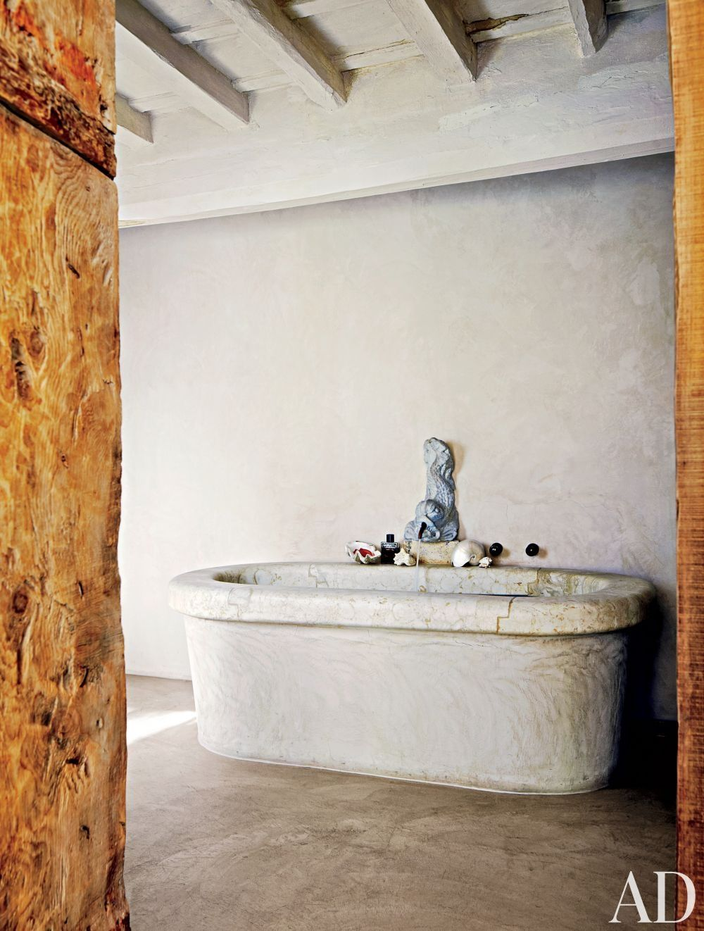 Rustic Bathroom by Axel Vervoordt and Alessio Lipari Architects and ...