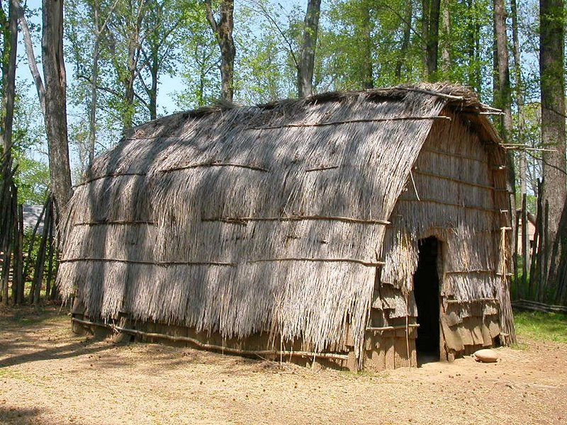 native americans | reconstruction of Native American dwelling at ...