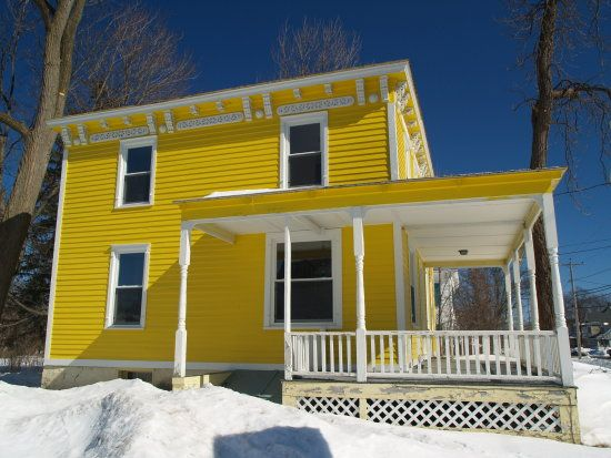 Yellow House With White Trim My Favorite Lil Too Bright