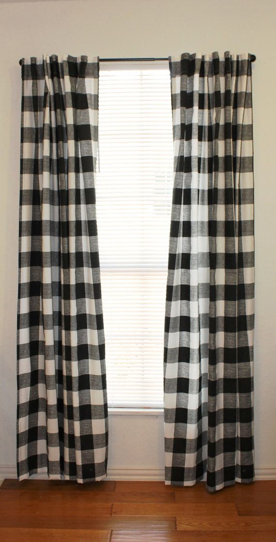 Large Buffalo Gingham Check Anderson Drapery By