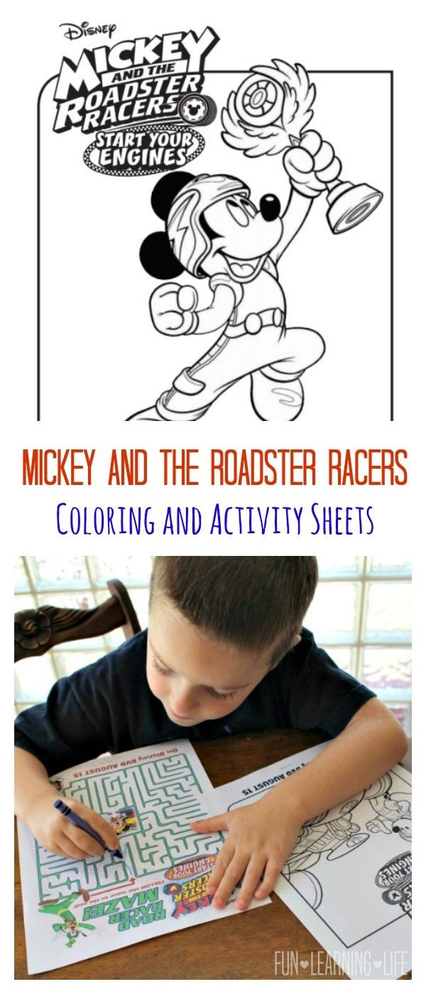 Mickey And The Roadster Racers Coloring Sheets And Start Your