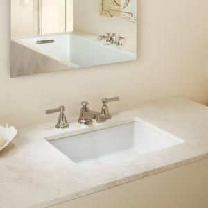 Kohler Verticyl Rectangle Undermount Bathroom Sink In White K 2882 0 At The Home Depot Mobile