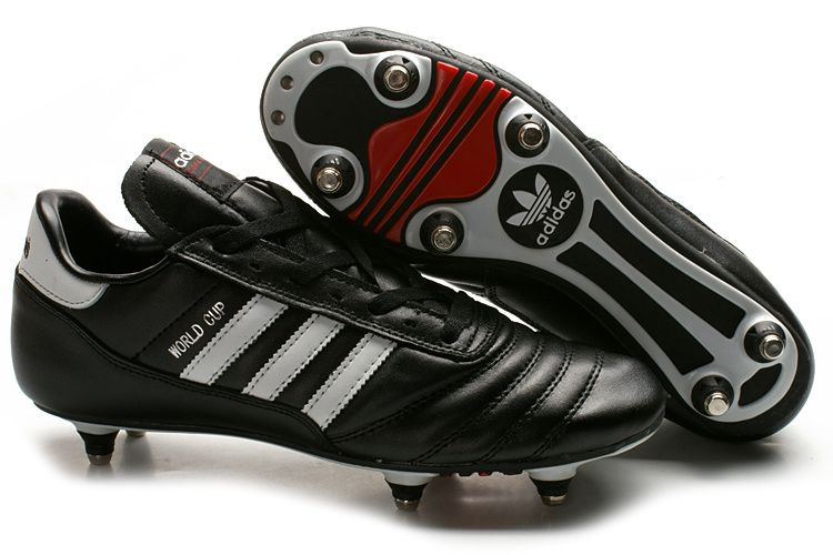 Adidas World Cup SG Soft Ground Mens Cheap Adidas Soccer Cleats Black White