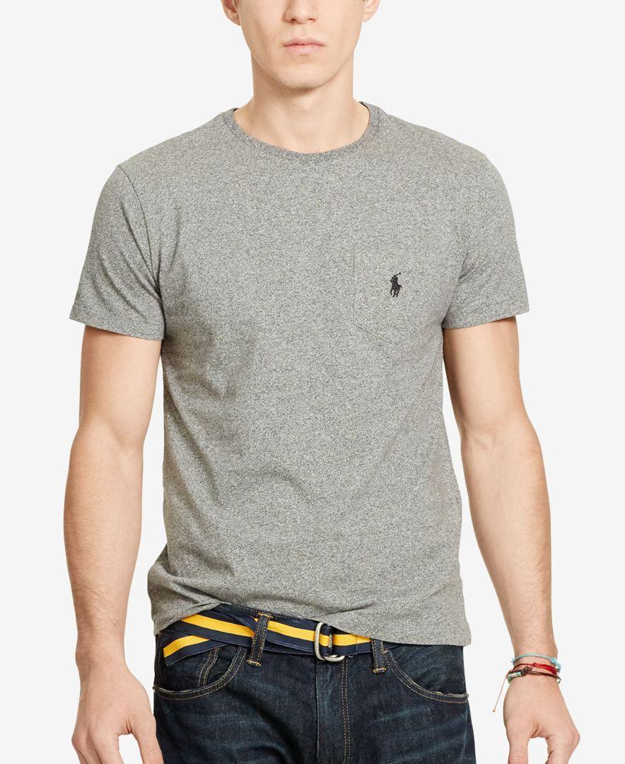 Polo Ralph Lauren Mens Jersey Pocket Crew T Shirt Men Clothes T