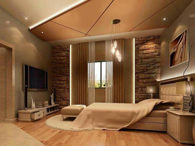 Elegant master bedroom   Bedroom false ceiling design ...