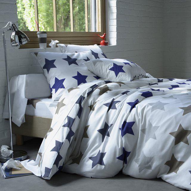 Housse de couette stars la redoute interieurs bleu - La redoute housse de couette ...