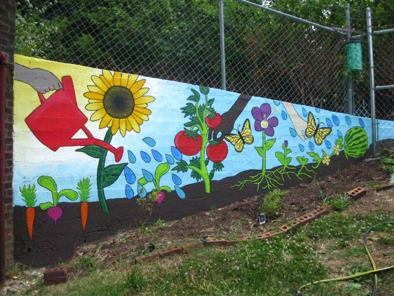 garden mural Google Search Mural for our ugly trailer