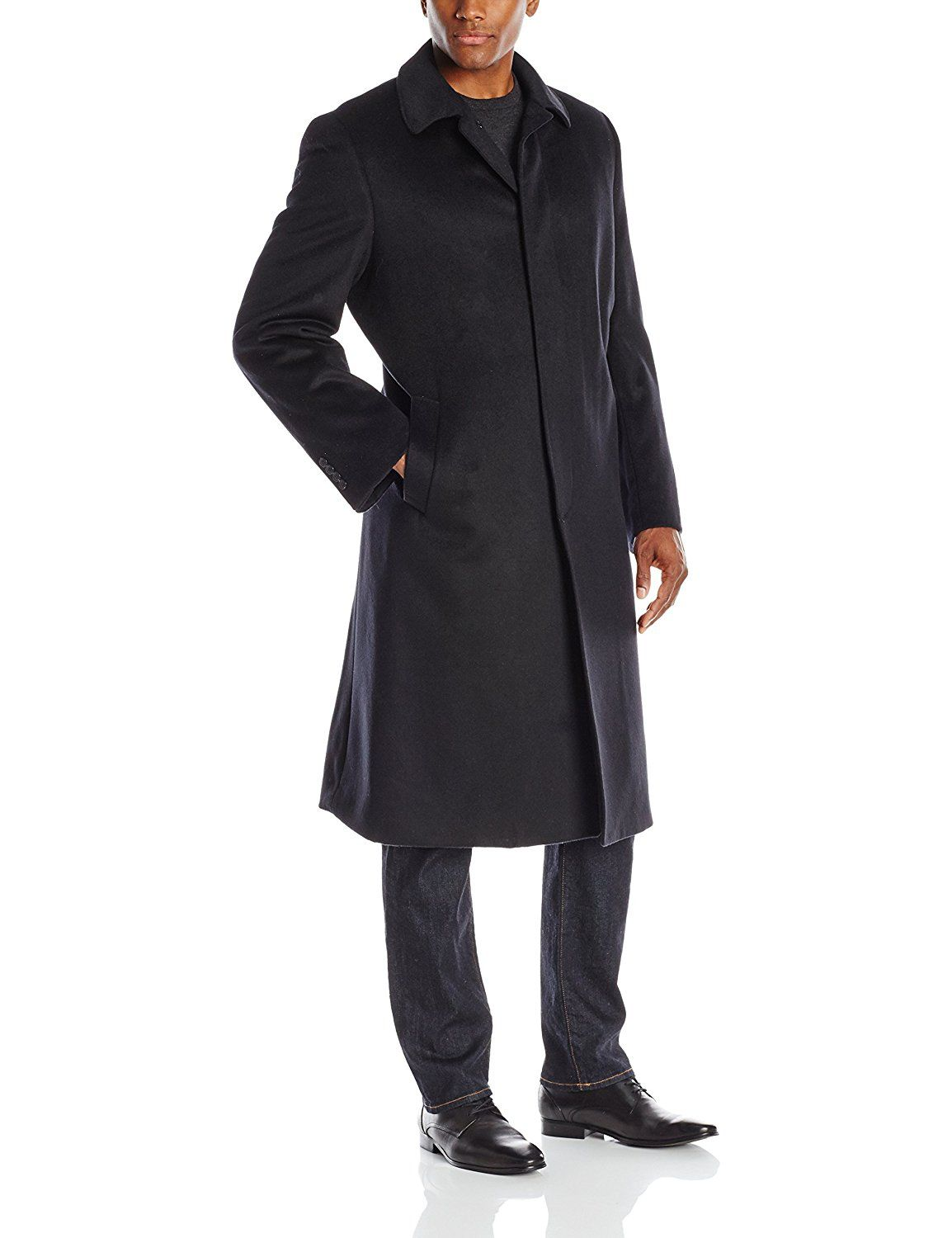 fccda94f7b1 Hart Schaffner Marx Men s Stanley Cashmere-Blend Coat at Amazon Men s  Clothing store