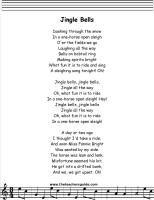 jingle bells lyrics, christmas | Jingle bells lyrics, Childrens songs