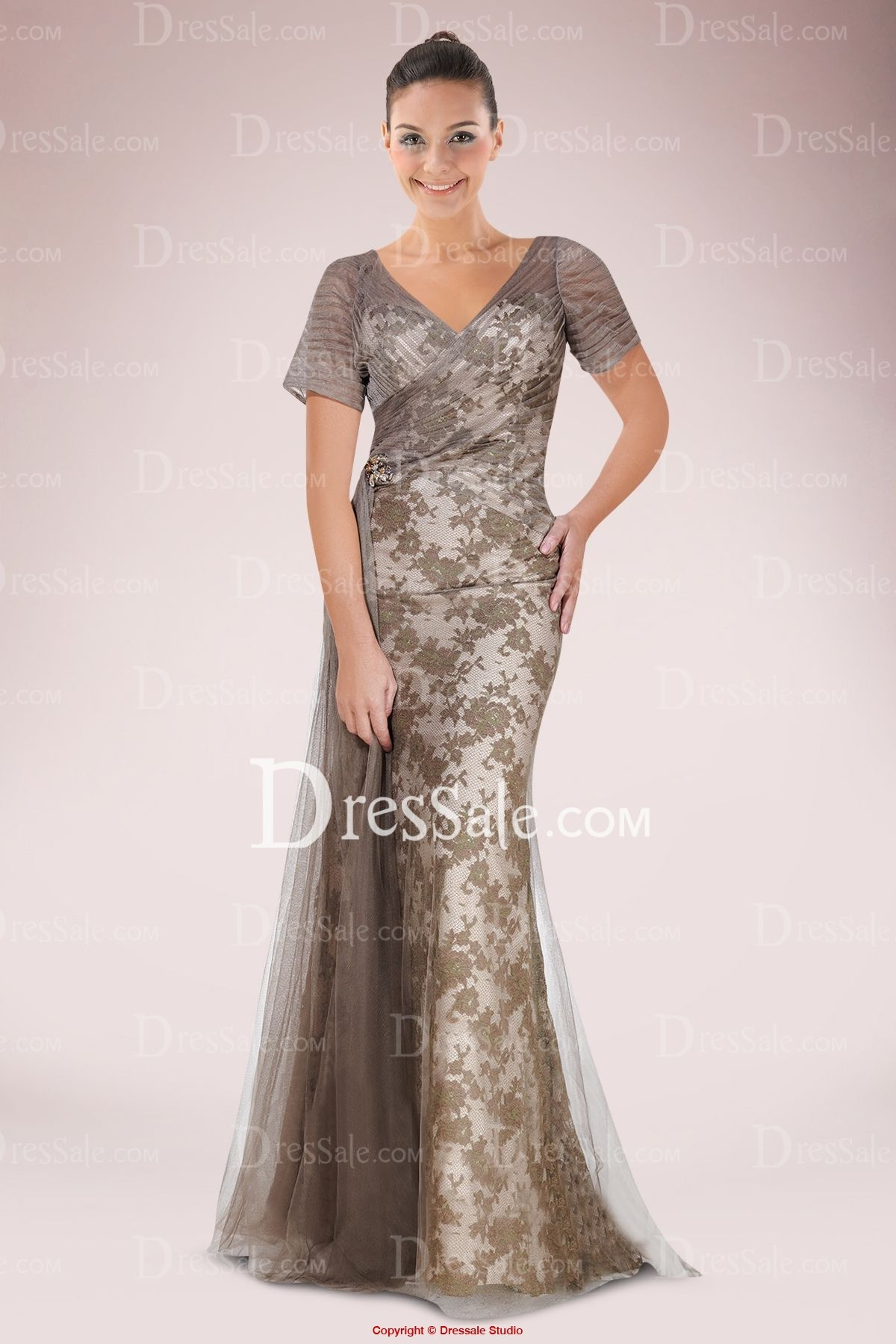 66946f61de3 Delicate Sweetheart Sheath Mother of Bride Dress Featuring Lace Applique  and Pleated Tulle Cover