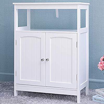 Amazon Com Iwell Bathroom Floor Storage Cabinet With 1 Adjustable