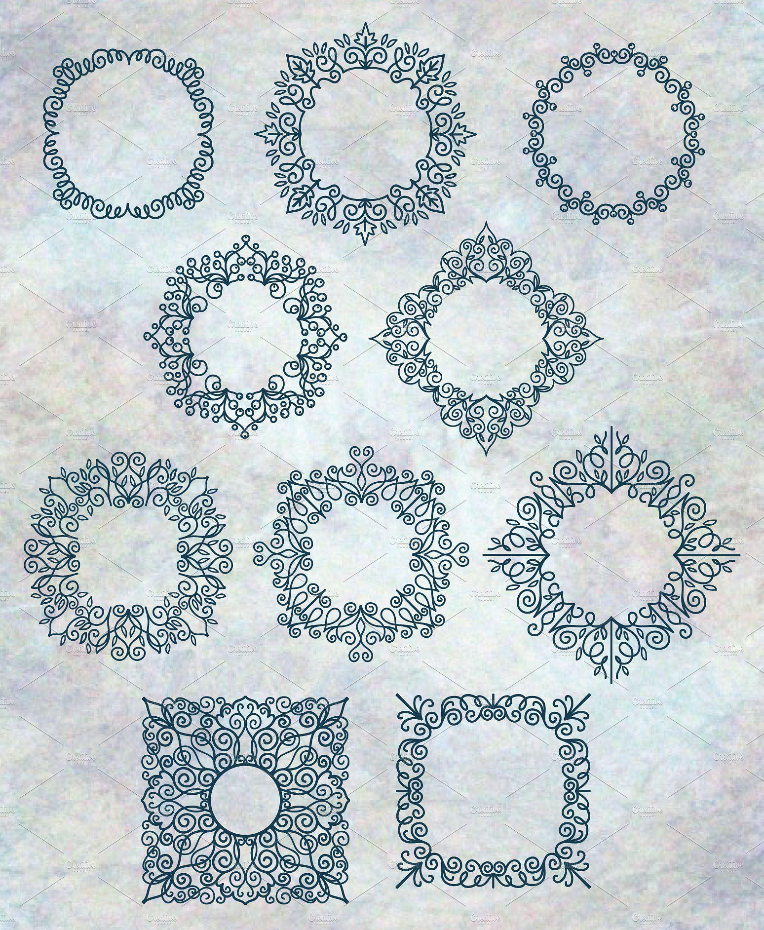 Decorative Frames by TatianaCociorva on @creativemarket