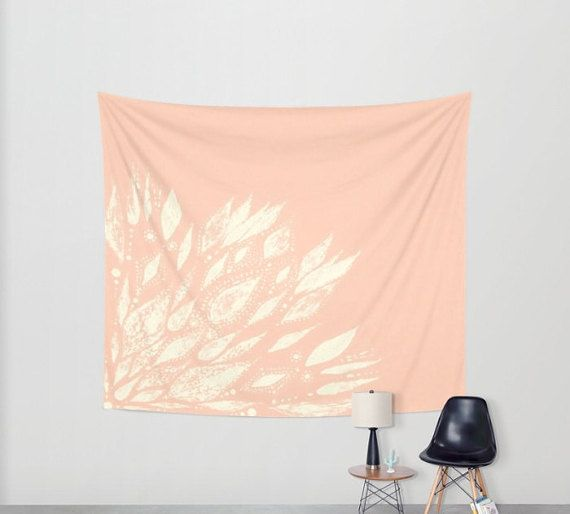 Pink Wall Tapestry blush pink flower wall tapestry, pink wall tapestry, blush pink