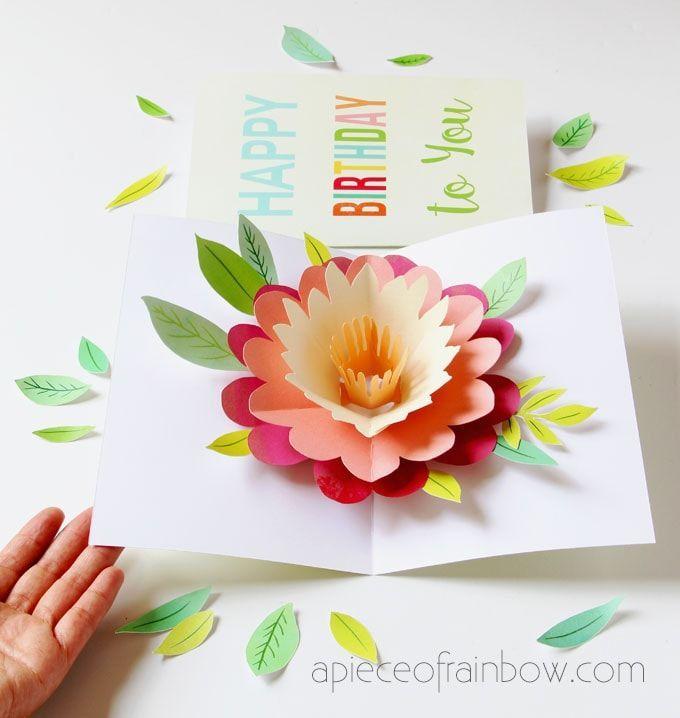 Photo of DIY glückliche Muttertagskarte mit Pop-up-Blume