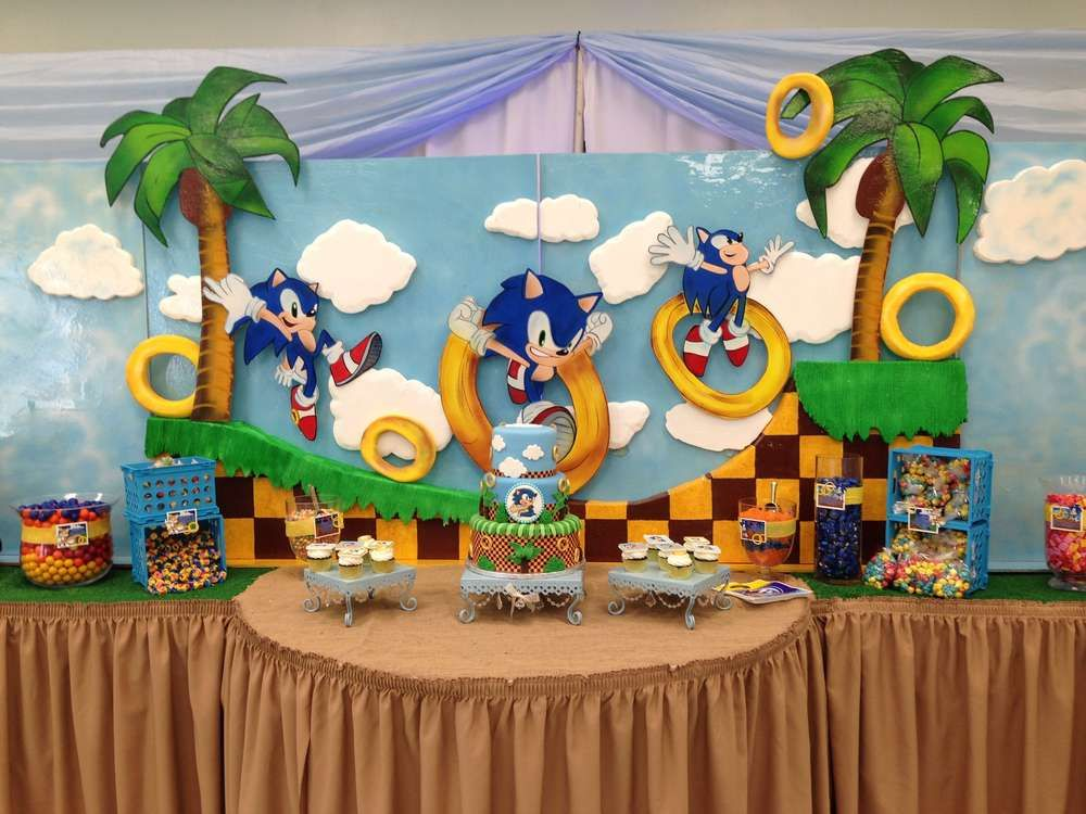 Sonic The Hedgehog Birthday Party Ideas Photo 13 Of 24 Sonic Birthday Parties Hedgehog Birthday Sonic Party