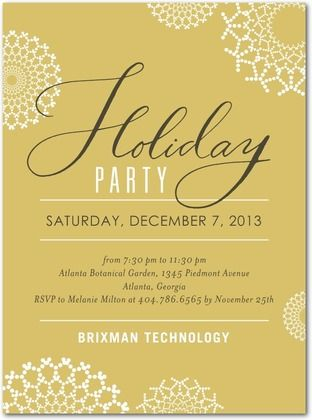 corporate holiday party invitations kaleidoscope dots - front, Party invitations