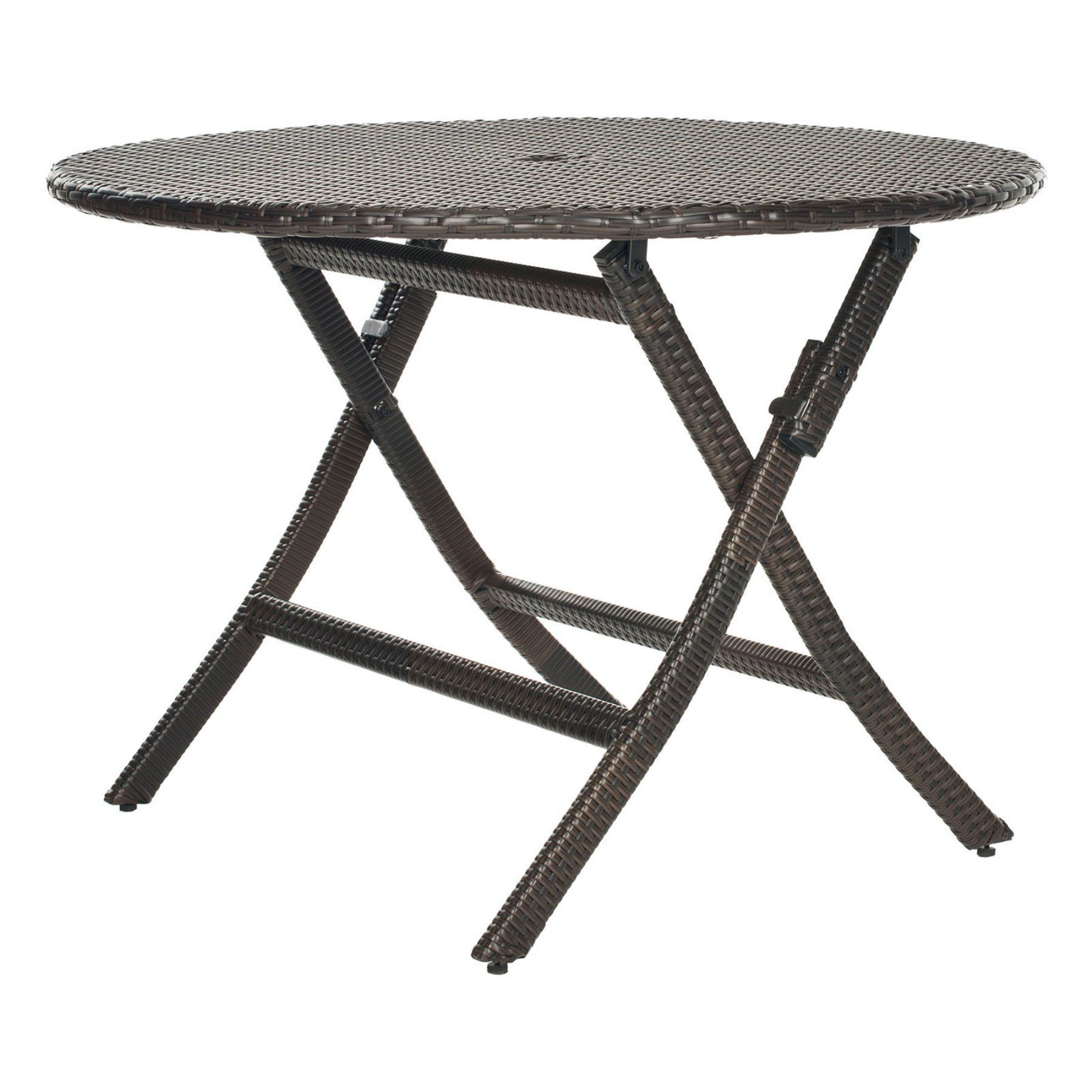 Outdoor ellis round folding patio dining table pata products