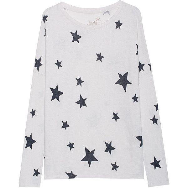 JUVIA Cash Mix Stars Print Off-White // Sweater with stars print ($210) ❤ liked on Polyvore featuring tops, sweaters, loose sweater, loose tops, star print top, off white tops and star print sweater